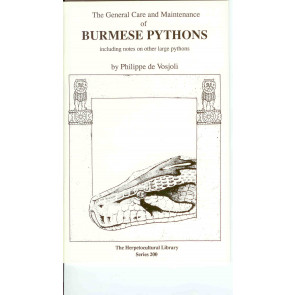 General Care and Maintenance of Burmese Pythons