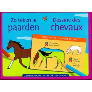 Zo teken je Paarden